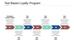 Text Based Loyalty Program Ppt Powerpoint Presentation Pictures Slide Cpb