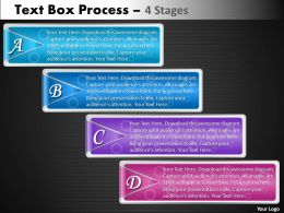 Text Box Process 4 Stages 27
