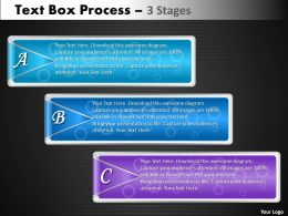 Text Box Process diagram 3 Stages 45