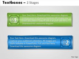 Text boxes 2 Stages 89