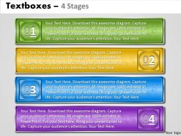 Text boxes 4 Stages 29