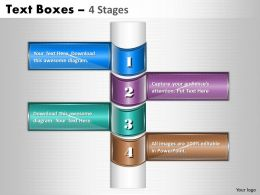 Text Boxes 4 Stages diagram 28