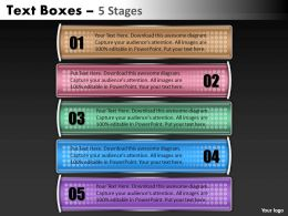 Text Boxes PPT Design