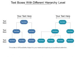 Text Boxes With Different Hierarchy Level