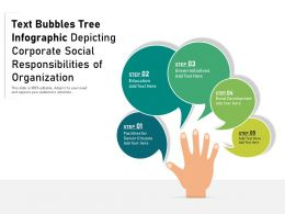 Text Bubbles Tree Infographic Depicting Corporate Social Responsibilities Of Organization