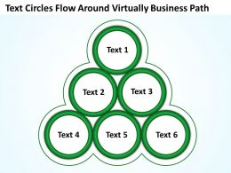 Text Circles  Flow  Around Virtually Business Path Powerpoint Templates ppt presentation slides 812