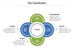 Text Classification Ppt Powerpoint Presentation Pictures Background Image Cpb