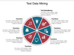 Text Data Mining Ppt Powerpoint Presentation Portfolio Brochure Cpb