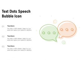 Text Dots Speech Bubble Icon