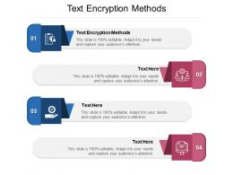 Text Encryption Methods Ppt Powerpoint Presentation Gallery File Formats Cpb