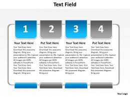 text field with boxes and highlights numbered from one to four powerpoint diagram templates graphics 712