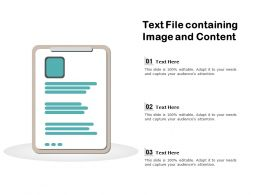 Text File Containing Image And Content