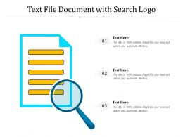 Text File Document With Search Logo