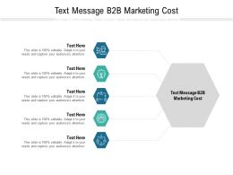 Text Message B2B Marketing Cost Ppt Powerpoint Presentation Slides Backgrounds Cpb