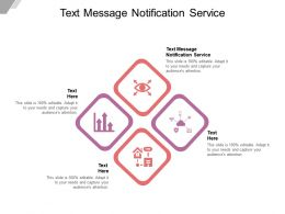 Text Message Notification Service Ppt Powerpoint Presentation Summary Model Cpb
