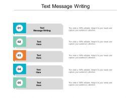 Text Message Writing Ppt Powerpoint Presentation Portfolio Elements Cpb