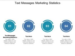 Text Messages Marketing Statistics Ppt Powerpoint Presentation Gallery Sample Cpb