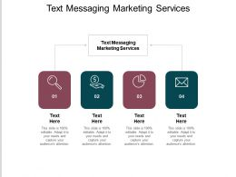 Text Messaging Marketing Services Ppt Powerpoint Presentation Inspiration Demonstration Cpb