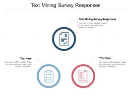 Text Mining Survey Responses Ppt Powerpoint Presentation Infographics Example Cpb