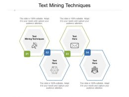 Text Mining Techniques Ppt Powerpoint Presentation Model Deck Cpb