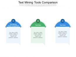 Text Mining Tools Comparison Ppt Powerpoint Presentation Show Vector Cpb
