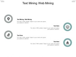 Text Mining Web Mining Ppt Powerpoint Presentation Gallery Infographic Template Cpb