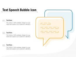 Text Speech Bubble Icon