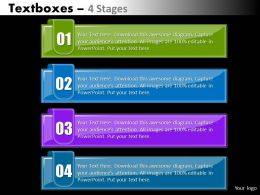 Textboxes 4 stages diagram 32