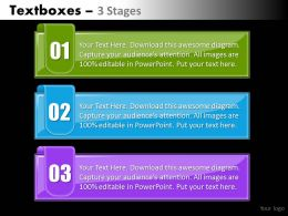 Textboxes colorful 3 steps 52