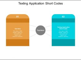 Texting Application Short Codes Ppt Powerpoint Presentation Model Icon Cpb