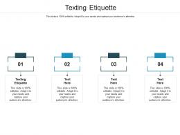 Texting Etiquette Ppt Powerpoint Presentation Icon Guidelines Cpb