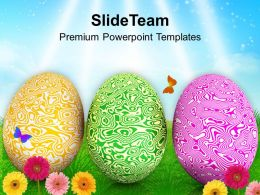 Textured Easter Eggs With Garden Theme Powerpoint Templates Ppt Themes And Graphics 0313