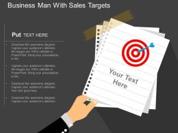 tf Business Man With Sales Targets Flat Powerpoint Design