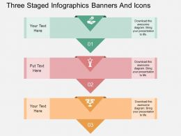 tf Three Staged Infographics Banners And Icons Flat Powerpoint Design