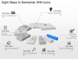 Tg Eight Steps In Semicircle With Icons Powerpoint Template Slide