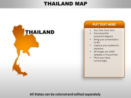 Thailand Country Powerpoint Maps