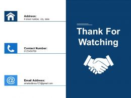 Thank For Watching 10 Principles In Leading Business Change Ppt Visual Aids Background Images