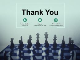 Thank You At Kearney Chessboard Powerpoint Presentation Slides