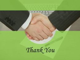 Thank You Card For Business Deal Powerpoint Slides