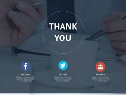 Thank You Card For Social Media Connection Powerpoint Slides