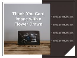 Thank You Card Image With A Flower Drawn