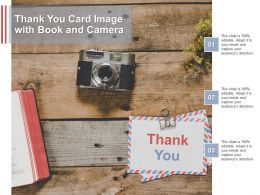 Thank You Card Image With Book And Camera