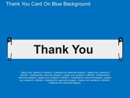 Thank You Card On Blue Background Flat Powerpoint Design