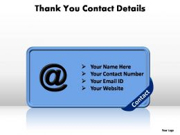 thank you contact details editable powerpoint templates
