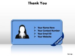 thank you contact editable powerpoint templates