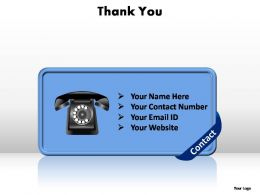 thank you contact no editable powerpoint templates