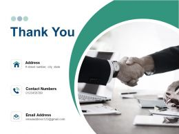 Thank You Distribution Resource Planning Powerpoint Presentation Slides