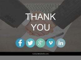 Thank You For Social Media Marketing Deals Powerpoint Slides