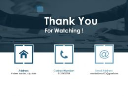 Thank You For Watching Customer Lifecycle