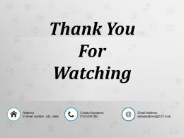 Thank You For Watching Powerpoint Themes